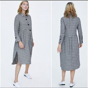Zara Plaid Check Dress